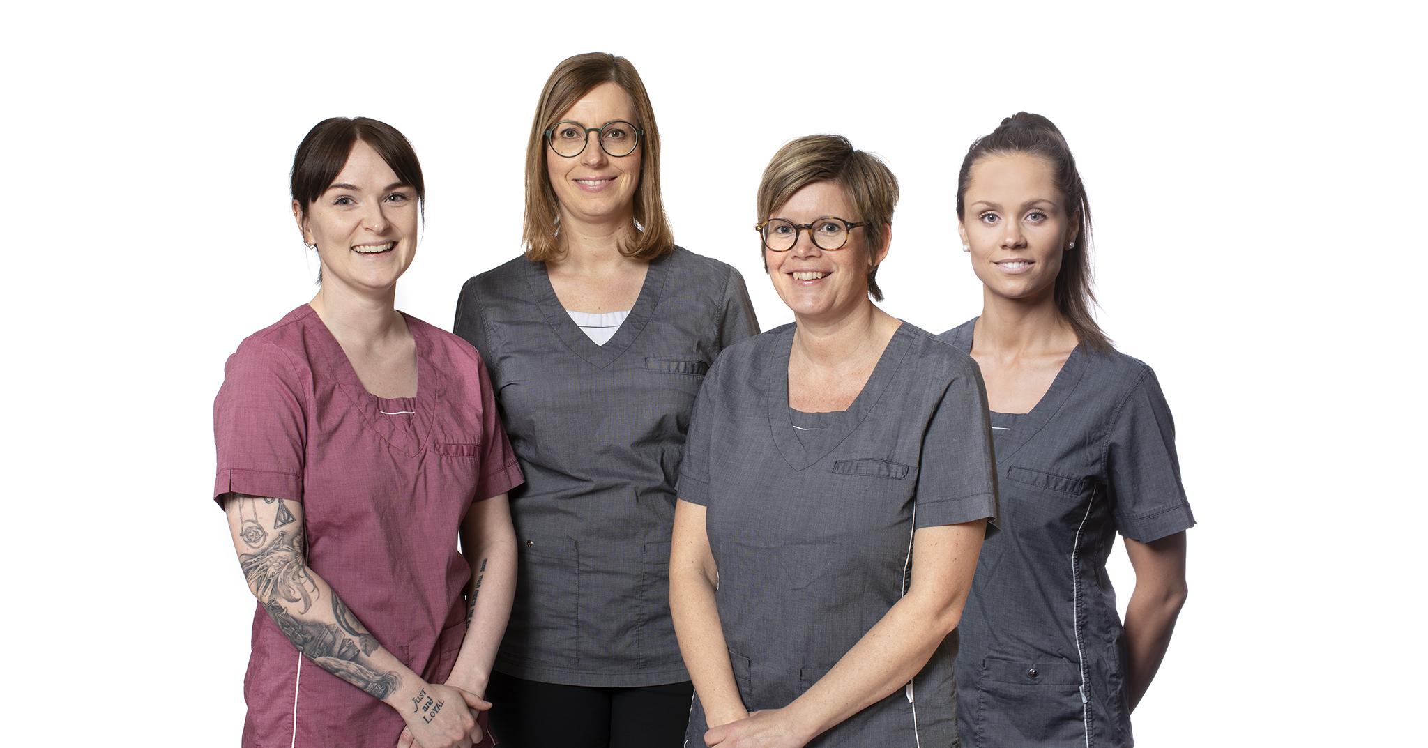 Tandhygienisterna Emma, Katarina, Jenny och Renée